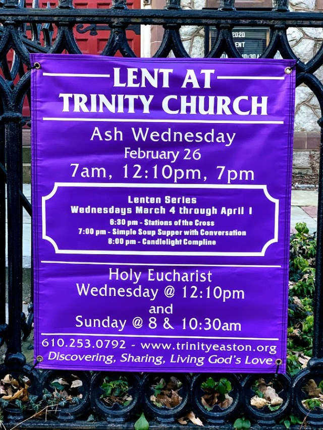 Lent at Trinity in Easton 2020