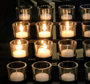 Votive Candles in Bethlehem December 2020